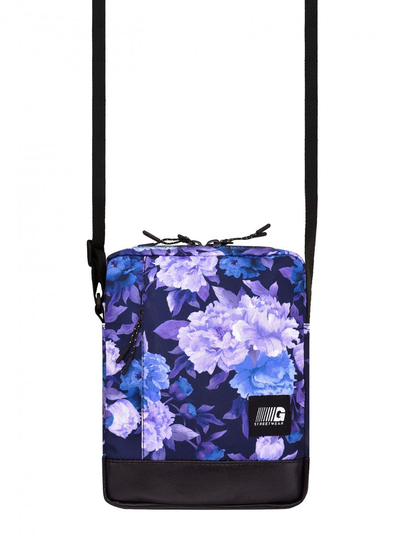 Сумка через плече MESSENGER COPYLEATHER | фіолетові квіти 3/19