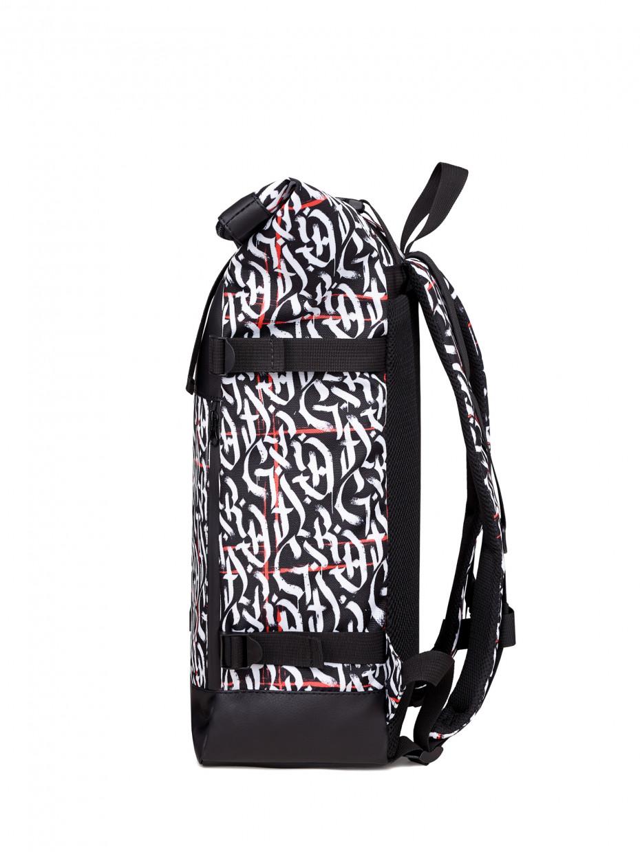 Рюкзак FLY BACKPACK | белая каллиграфия с красными линиями 1/20