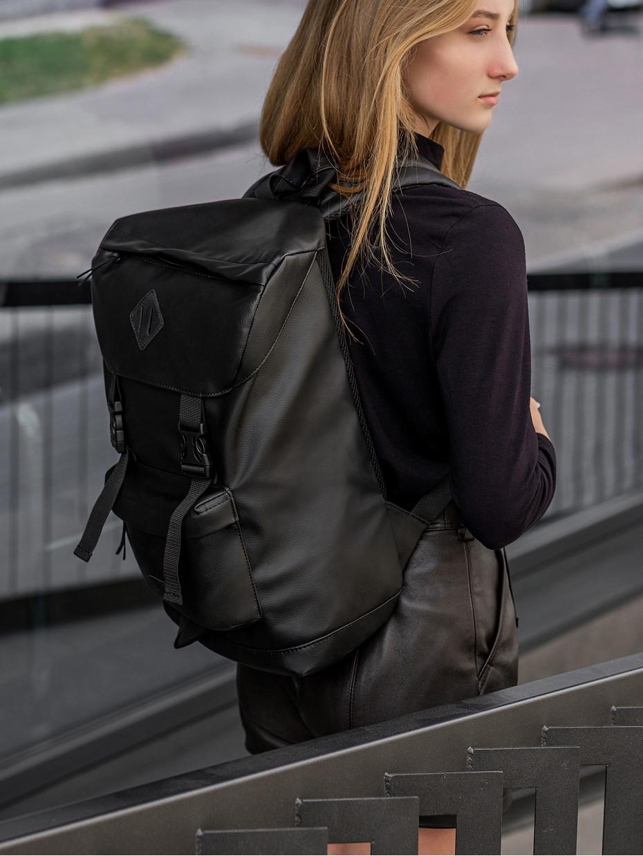 Рюкзак CAMPING BACKPACK | еко-шкіра чорна 3/20