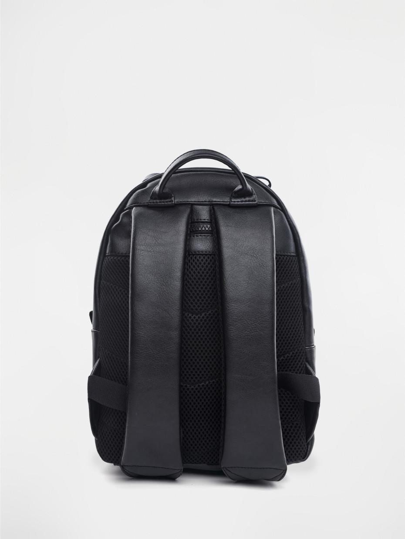 Рюкзак SMALL eco-leather | черный ромб 1/19