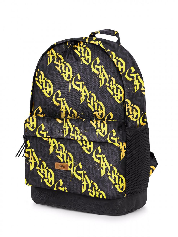Рюкзак BACKPACK-2 | жовта каліграфія 4/20