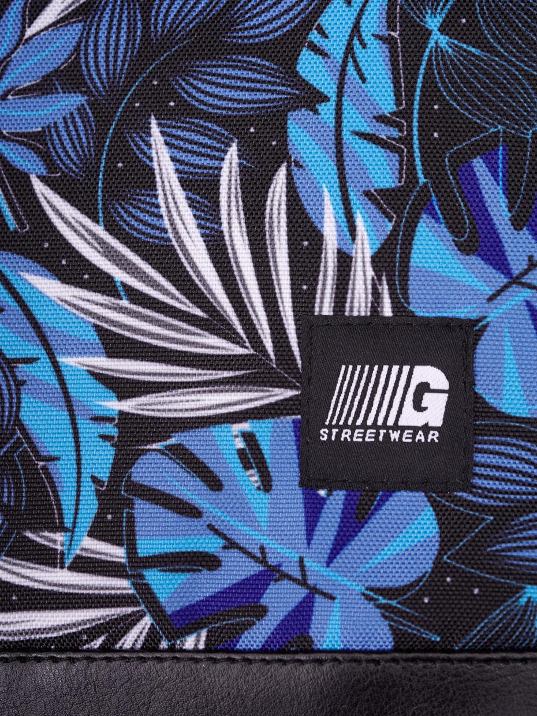 Сумка через плечо MESSENGER COPYLEATHER | синие листья 1/20