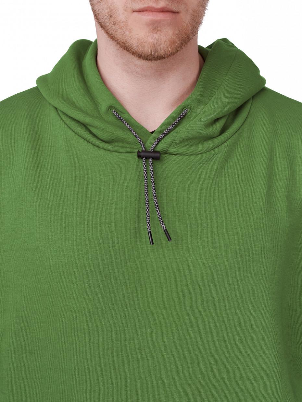 Мужское худи оверсайз с рефлективным шнурком | темно-зеленый 2/21