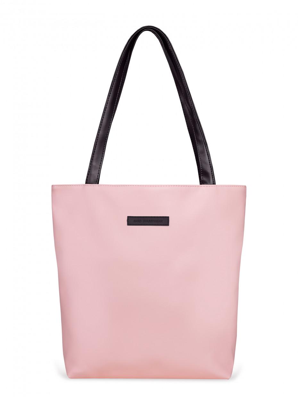 Сумка шоппер | эко-кожа розовая 2/20