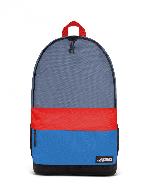Рюкзак CITY | сірий/червоний/синій 1/20