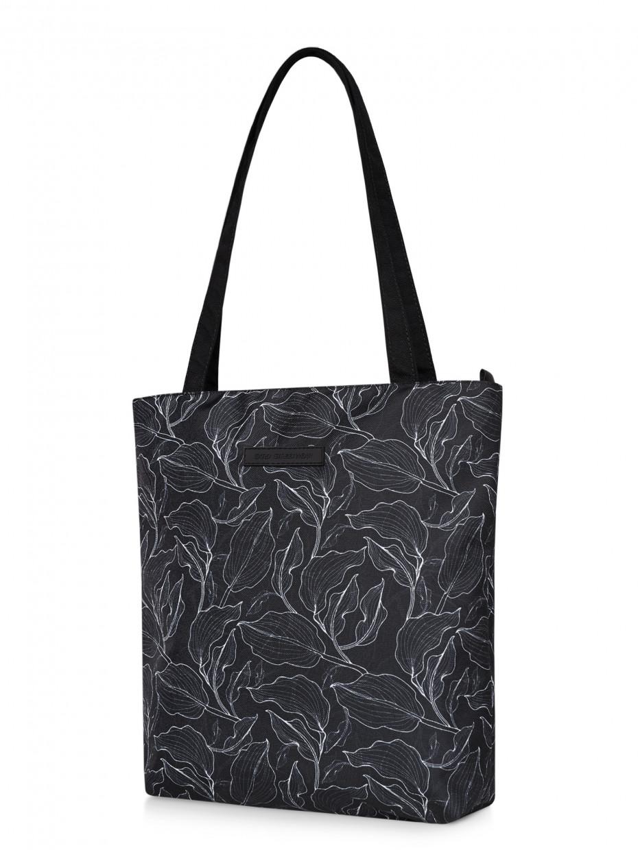 Сумка шопер   black leaves 4/20