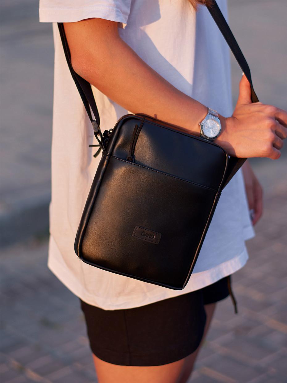 Сумка через плече MINI | black-leather 1/18