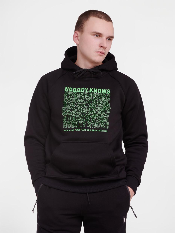 Худи fleece NOBODY KNOWS | черный 4/19
