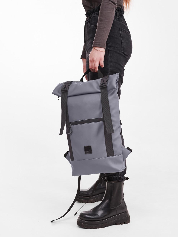 Рюкзак HOLDER | еко-шкіра сіра 1/21