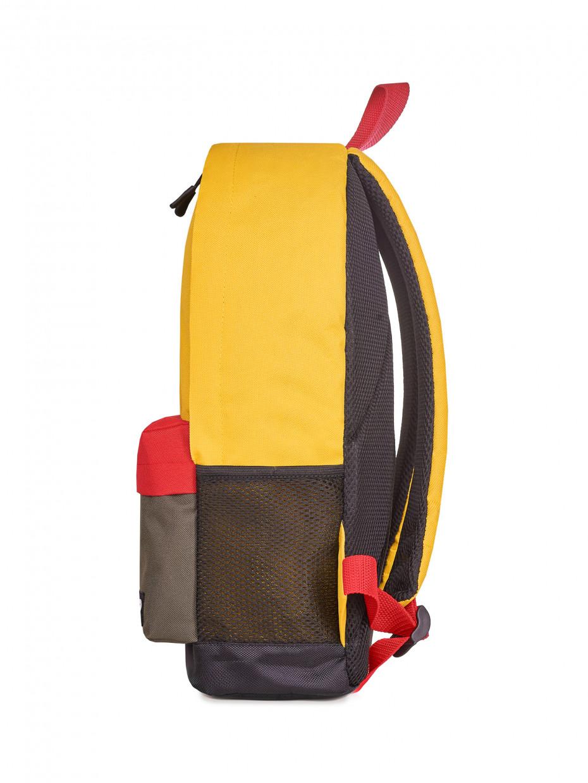 Рюкзак CITY   жовтий/червоний/хакі 1/20
