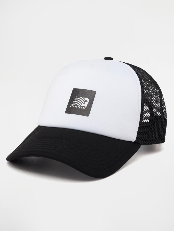 Кепка TRUCKER 1/19 | черная с белым