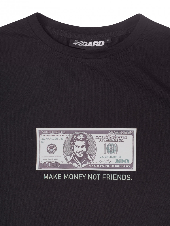 Футболка Make money not friends   чорний 3/21