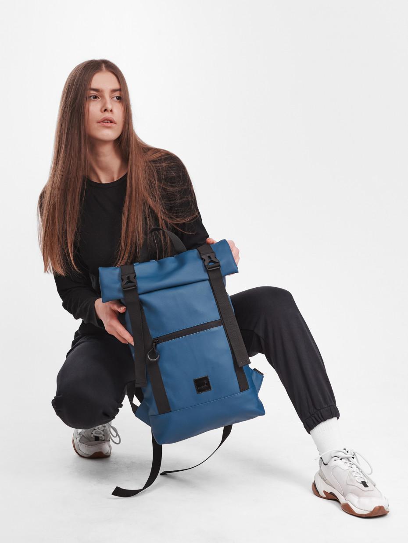 Рюкзак HOLDER | еко-шкіра темно синя 1/21