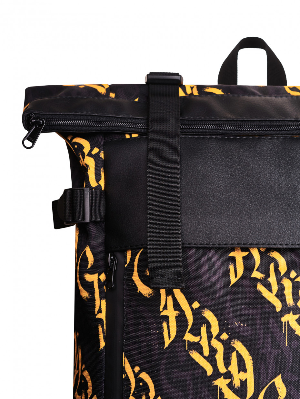 Рюкзак FLY BACKPACK | жовта каліграфія 1/20