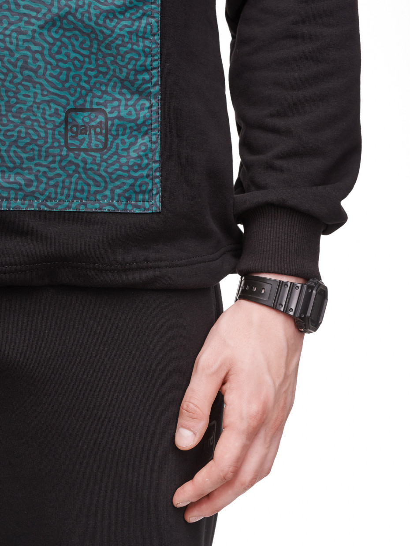 Мужское худи COLOR POCKET с рефлективным шнурком   fingerprint green camo 3/21