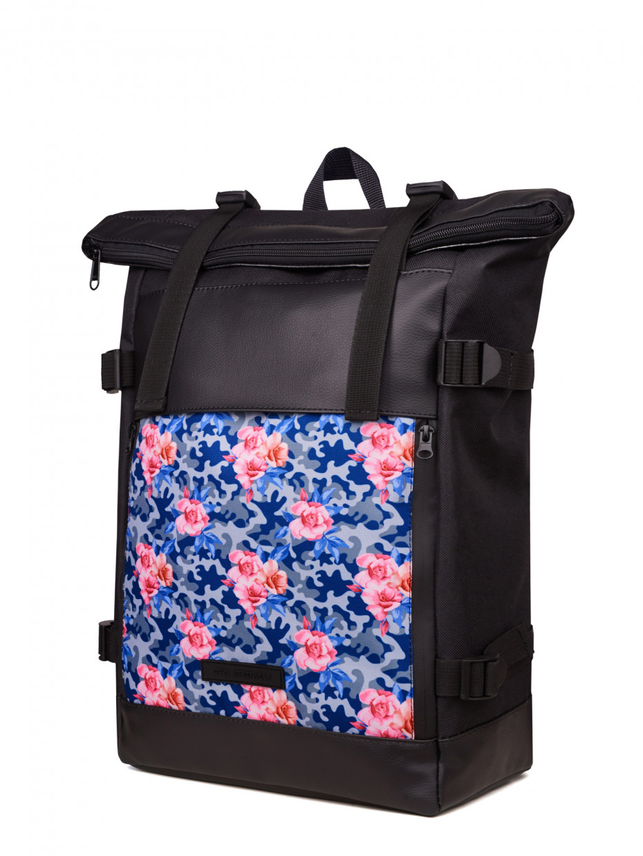 Рюкзак FLY BACKPACK | камуфляж з рожевими трояндами 1/20
