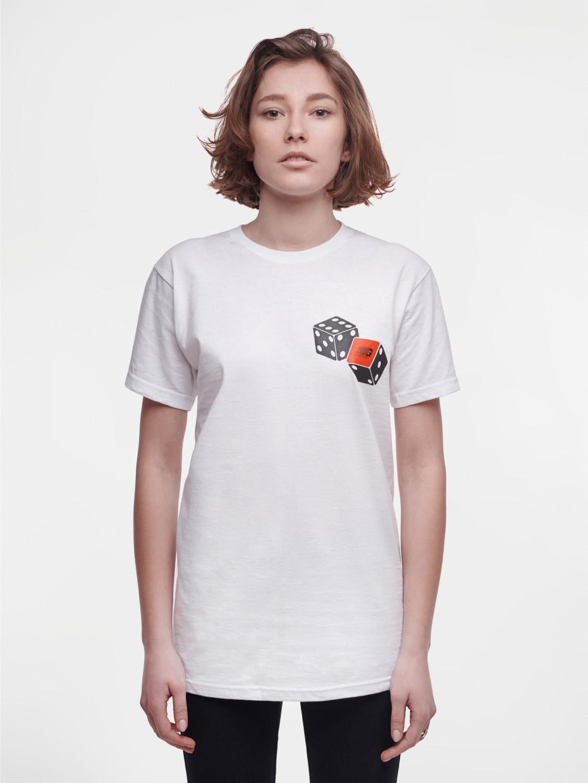 Женская футболка DICE | белый 1/19