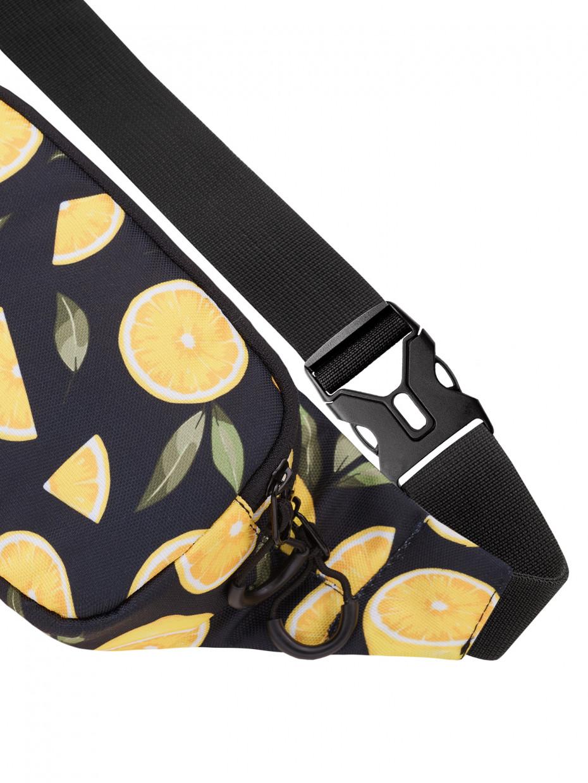 Сумка на пояс STINGER | черный лимон 2/21
