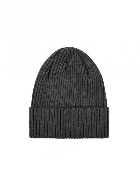 Зимняя шапка fine knit короткая | светло-серый 4/19