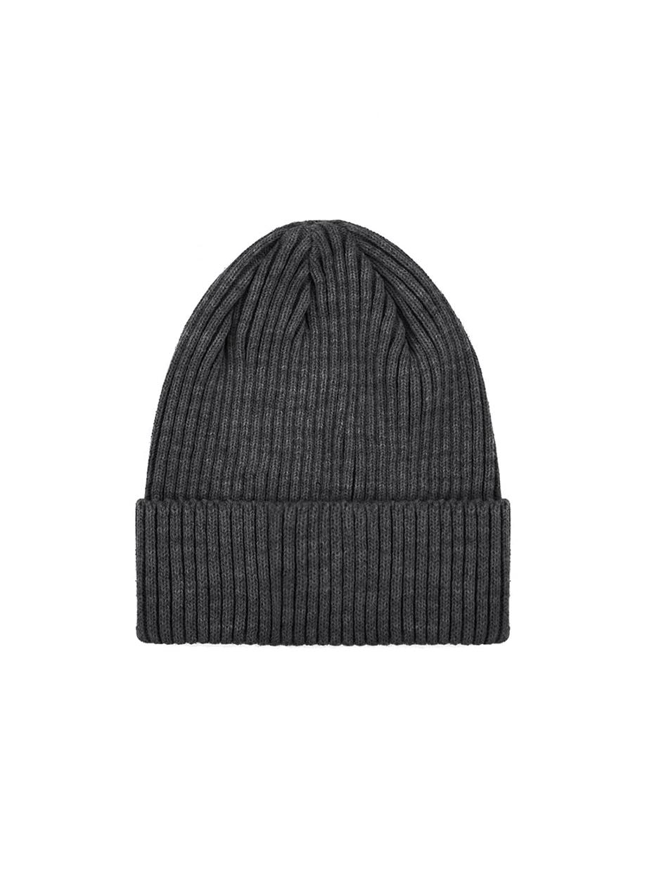 Зимняя шапка fine knit | темно-серый 3/21