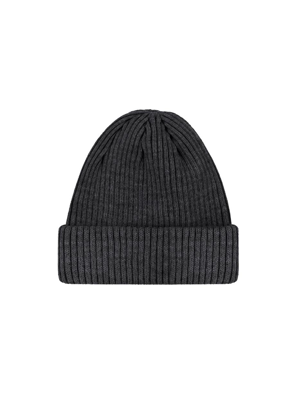 Зимова шапка fine knit коротка | темно-сірий 3/21