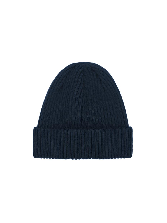 Зимова шапка fine knit коротка | темно-синій 3/21
