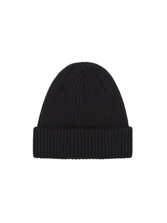 Зимова шапка fine knit коротка   чорний 4/19