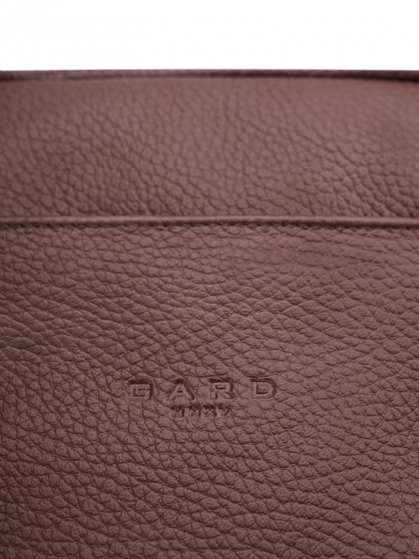 Кожаный мессенджер MINI | коричневый текстурированный 4/20