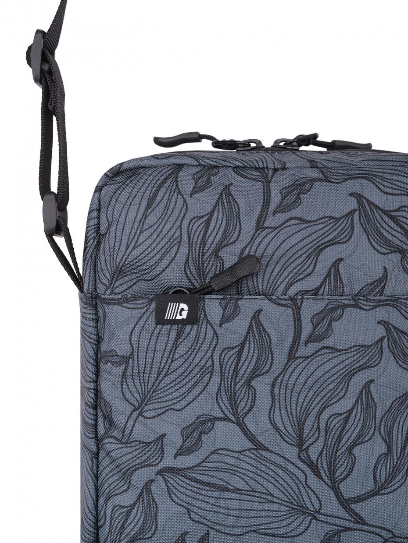 Сумка через плечо MINI 3 | gray leaves 4/20