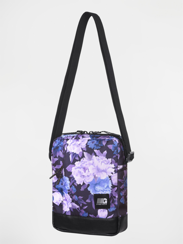 Сумка через плечо MESSENGER COPYLEATHER | фиолетовые цветы 3/19