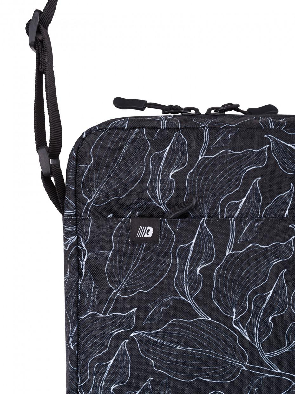 Сумка через плече MINI 3 | black leaves 4/20
