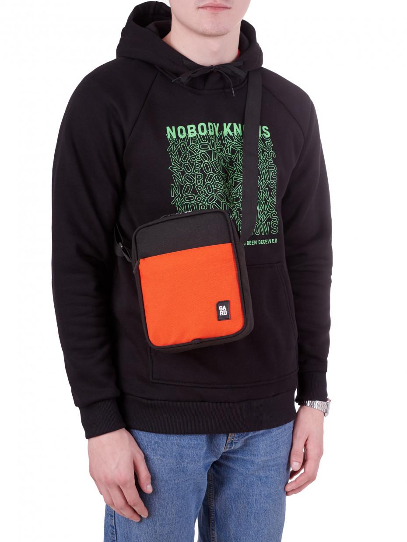 Сумка CORDURA 1000D MESSENGER MINI-3 | черный с оранжевым карманом 4/19
