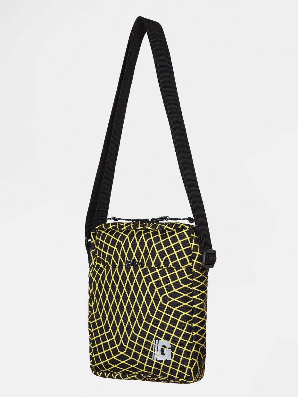 Сумка через плечо MINI REFLECTIVE 3   черная с желтой ломаной клеткой 3/19