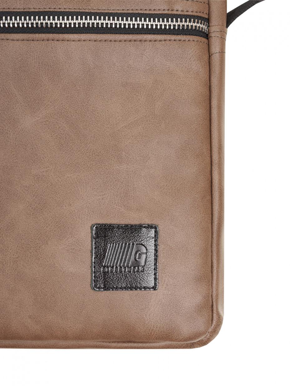 Сумка через плечо COLLEGE | эко-кожа коричневая матовая 3/20