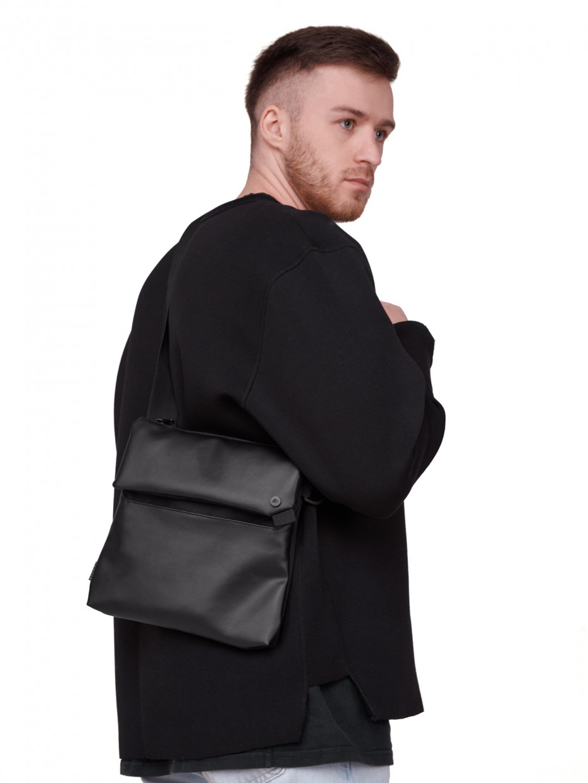 Сумка через плечо WEAPON BAG I CORDURA черная/эко-кожа черная 1/21
