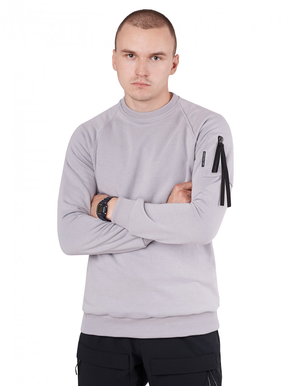 Свитшот SLEEVE POCKET I серый 4/20